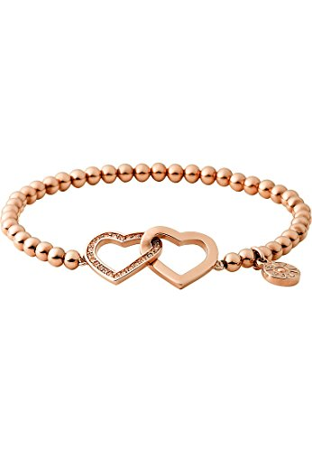JETTE Magic Passion Damen-Armband Moments of love Metall 23 Kristall One Size, rosé