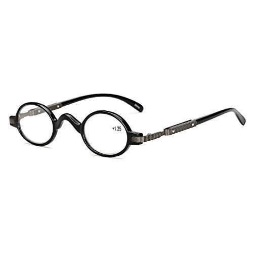 EgBert Hd Anti-Müdigkeit Lesebrille Pc Schwarz Runde Rahmen Harz Linse Presbyopie Gläser - 2.5