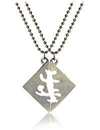 TBOP NECKLACE THE BEST OF PLANET Simple And Stylish Jewelry Two Splicing Couples Pendant Necklace In Gold Color...