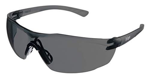 Dräger Schutzbrille X-pect 8321 | Leichte Sicherheitsbrille mit großem Sichtfeld | Für Baustelle, Werkstatt, Fahrrad-Fahren, Joggen | Getönt, Kratzfest und beschlagfrei | 1 St.