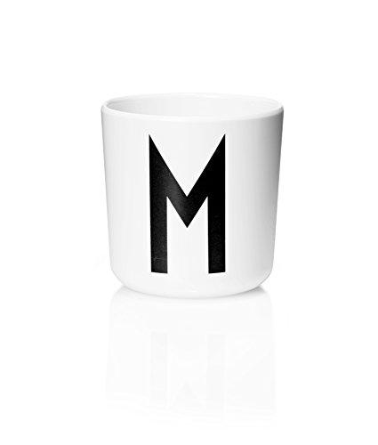 Design Letters Melamin Becher - Buchstabe: M - Multifunktionsbecher - Arne Jacobsen (Grenze Design)
