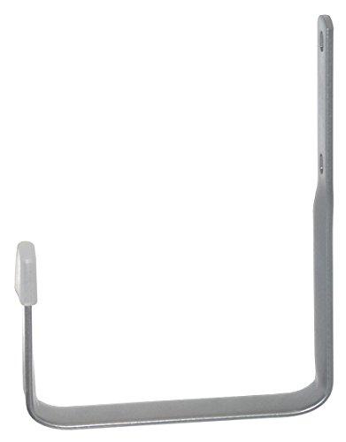 Wandhaken Universalhalter / 2 Stück/H x T = 205 x 185 mm/weißaluminium