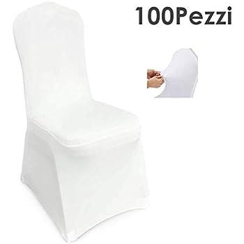 SINSSOWL, set di 100 fasce elastiche in elastan per sedie