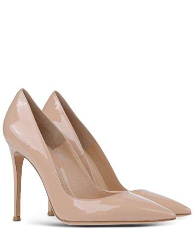 High Heel Abschlussball Standard Schuhe Nude Pumps Partei Office Edefs 100mm Damenschuhe Faschion Elegante Spitz TwTzqgFv