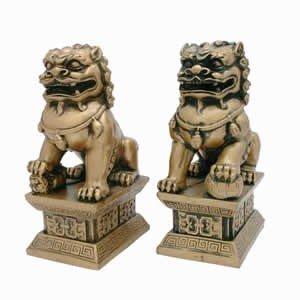 asia-overstock-fu-dogs-golden-4-e-portano-fortuna-protezione-per-casa-o-ufficio-ottima-idea-regalo