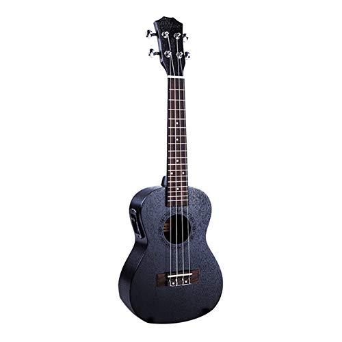 ZGHNAK 23 pollici nero elettrico concerto Ukulele 4 corde in mogano pannello Ukulele chitarra strumenti musicali