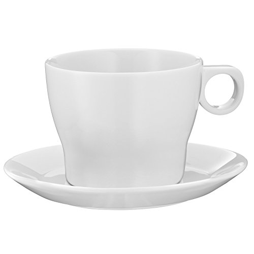 WMF Barista Café au Lait Tasse, mit Untertasse, Porzellan, spülmaschinengeeignet, 230 ml