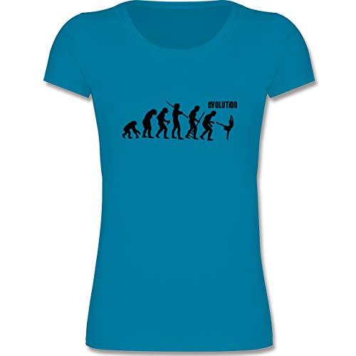 (Evolution Kind - Modern Dance Evolution - 98-104 (3-4 Jahre) - Azurblau - F288K - Mädchen T-Shirt)