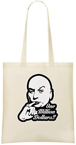 il Eine Million Dollar - Austin Powers Dr Evil One Million Dollars Custom Printed Shopping Grocery Tote Bag 100% Soft Cotton Eco-Friendly & Stylish Handbag For Everyday Use Custom ()