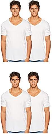 Hanes Mens Comfort Fit V-Neck Undershirt 4-Pack T-Shirt, Color, Size