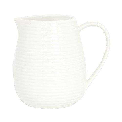 ProCook Kanne, Milchkännchen, Porzellan, 1l, weiß