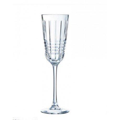 Coffret 6 Flûtes à champagne ' Rendez-Vous ', Cristal d'Arques