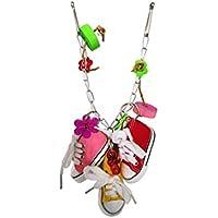 Grifri Loriculus De Mascar Juguetes Loro Craft Juguetes Mini Zapatilla Colgar Cadena Bird Juguetes Jaula Decorationation Las Zapatillas De Deporte De Juguetes para Las Aves 1 Pc