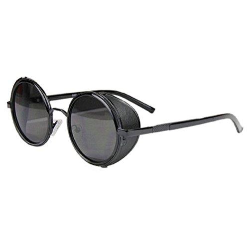 Gafas de sol redondas para hombre negras