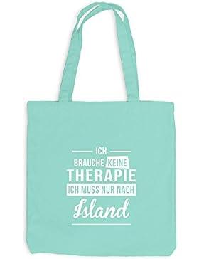 Jutebeutel - Ich Brauche Keine Therapie Island - Therapy Urlaub Iceland
