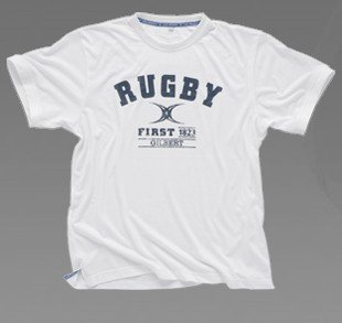 T Shirt - First in Rugby - White - Gr. S