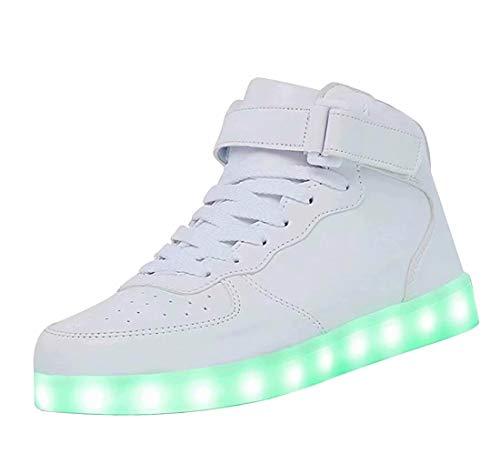 High Top LED Schuhe USB Sneakers für Männer Frauen mit Fernbedienung-44 ()