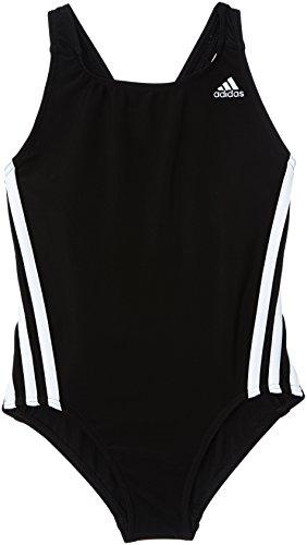adidas Mädchen Badeanzug Infinitex 3-Stripes 1 Piece, Black DD/White, 140, Z29299 -