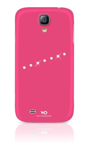 White diamonds-custodia con design sash-cover con cristalli swarovski per iphone 4/4s, rosa, samsung galaxy s4