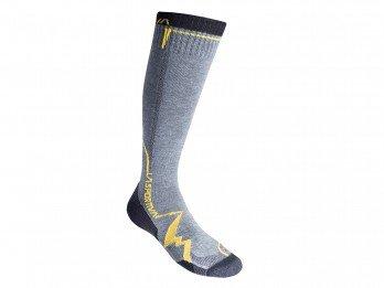 La Sportiva Mountain Long Socken, Unisex Erwachsene XL Grau/Gelb