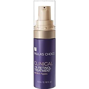 Paula's Choice Clinical Serum Facial de 1% Retinol – Suero Antiarrugas & Atenúa las Manchas Oscuras para Cara & Ojos – Crema con Peptidos – Todos Tipos de Piel – Tamaño de Viaje 5 ml