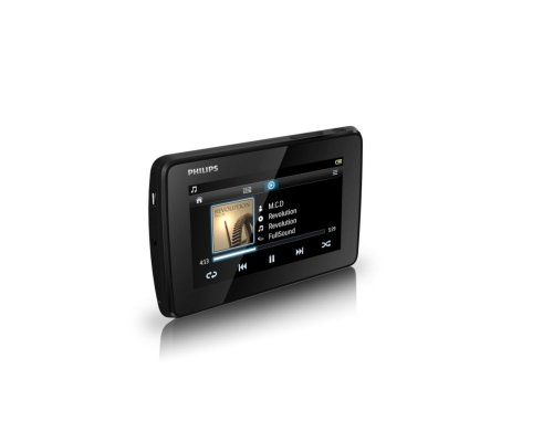 Philips GoGear Tap 4.3 SA4TP404KF/94 4GB MP3 Video Player with 4.3-inch Screen (Black)