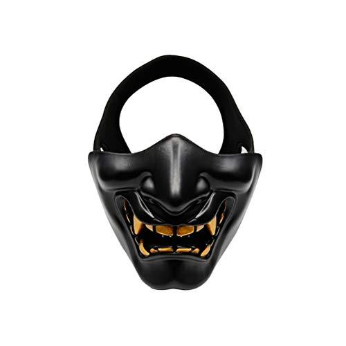 Made Adult Home Kostüm - EqWong Halloween Masken, Halloween Dekoration Half-Face Devil Mask mit atmungsaktivem Stirnband Horror Mask Halloween Scary Maske Horror Adult Kostüm Zubehör