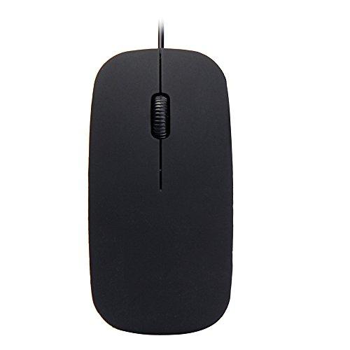 USB-Maus mit Kabel, einfache Computermaus für Laptop, PC, Desktop, kompatibel mit Windows 7/XP und OS Daorokanduhp schwarz