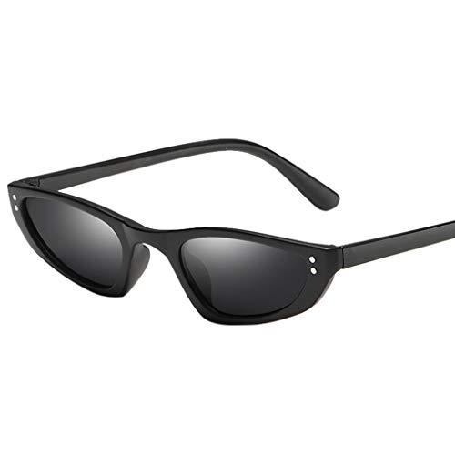 Lazzboy Mann Frauen Unregelmäßige Form Sonnenbrille Brille Vintage Retro Style Sonnenbrillen, Katzenauge Schatten Für Sonnenbrillen Frau Dreieckige Gläser Feminino(B)