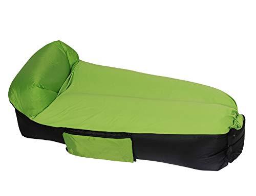 ERWEY Wasserdichtes Aufblasbares Sofa mit Integriertem Kissen Portable Liege Tragbarer aufblasbarer Sitzsack Lounger Luftsofa Couch, für Reisen, Camping, Wander, Schwimmbad und Strandparties