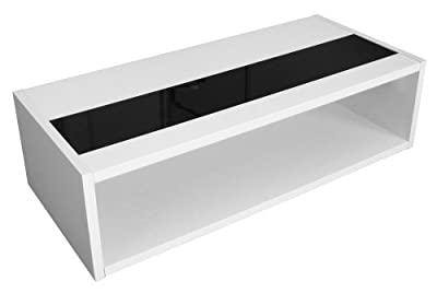 Berlenus Mandise Coffee Table White/Glossy Black