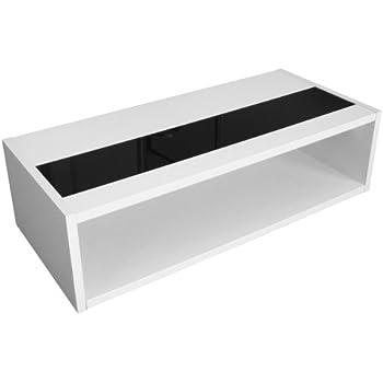 Berlenus Mandise Table Basse Blanc/Noir Brillant