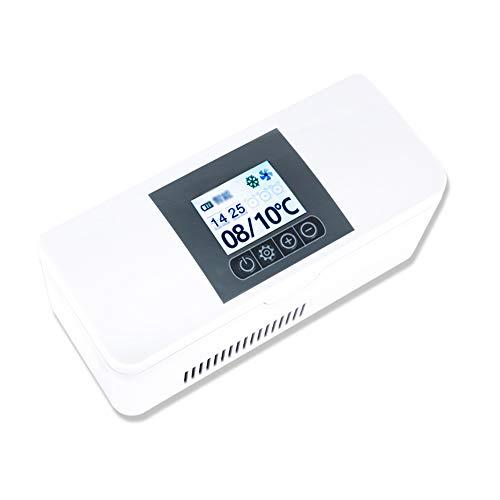 Mini Nevera MéDico Refrigerador PortáTil De Insulina Monitor LCD Recargable Refrigerador para...