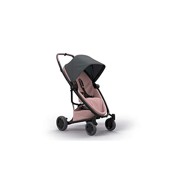 Quinny Zapp Flex Plus Urban Pushchair, Graphite on Blush Quinny Can be used from birth when combined with quinny from-birth cocoon or a maxi-cosi baby car seat (sold separately) This flexible pushchair features a two-way seat that fully reclines in both directions Closed push bar allows for easy one-hand pushing 4