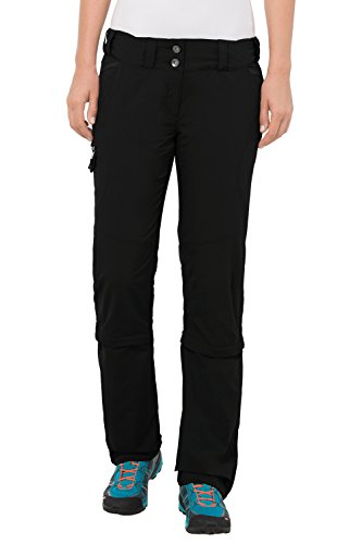 VAUDE Damen Hose Skomer Capri Zip Off Pants, Black, 40/M, 5405