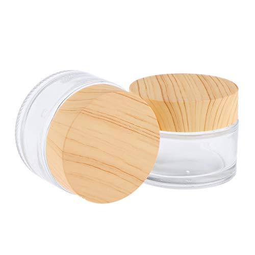 Homyl 2PCS Pots Vide de Maquillage Récipient de Cosmétiques Rangement Produits de Beauté pour Voyage et Avion - 50 grammes