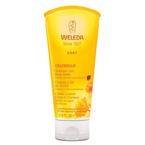 WELEDA Calendula Washlotion und Shampoo, Schonendes Duschgel Für Babyhaut- Und Haar, Reinigt Und Pflegt Die Kopfhaut Von Kindern und Babies (1 x 200ml)