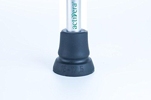 1 Stück activera Krückenkapsel Antirutsch Gummipuffer Gehhilfenfuß passend für Gehstützen Gehstöcke mit Rohrdurchmesser von 16-17,5 mm