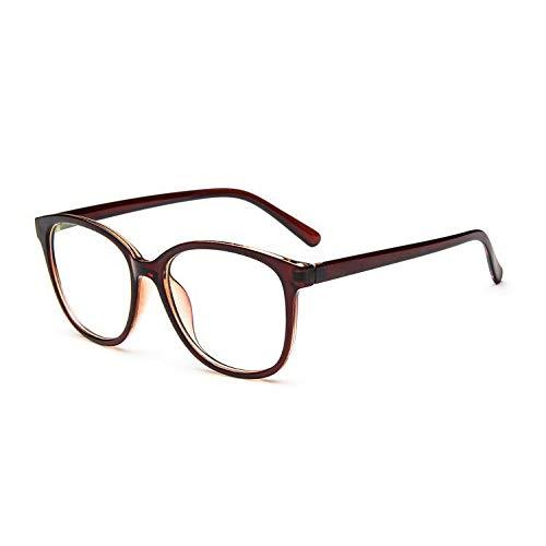 YMTP Einfarbig Gläser Männer Frauen Runde Gläser Übergroße Retro Brillengestell Dekorative Rahmen Gläser