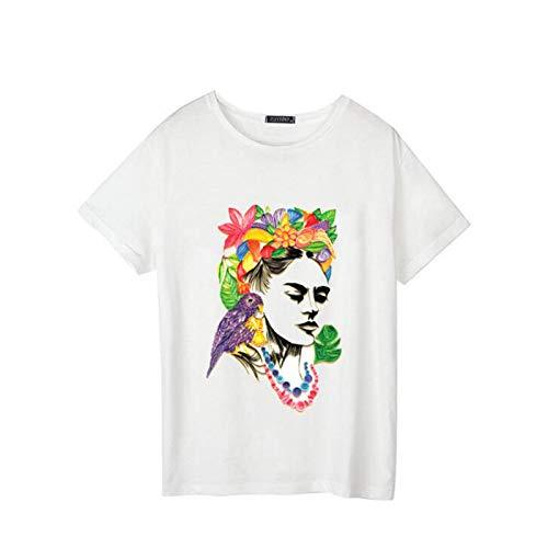 Europa und die Vereinigten Staaten Explosionen Shirt Sommer Kurzarm Frauen Größe lässig Harajuku Cartoon Brief Drucken T-Shirt Foto Farbe L -