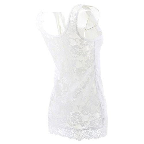 Netgozio Top à Manches Longues - sans Manche - Femme * Taille Unique Bianco