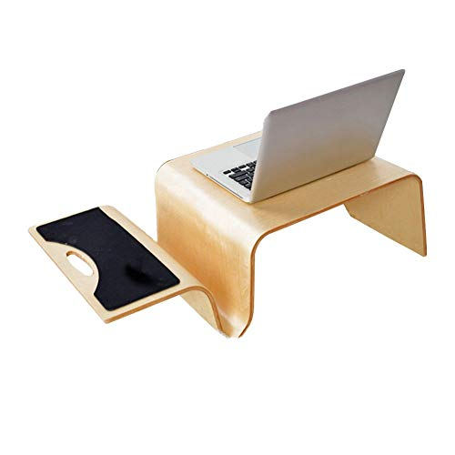 Lebendes Büro / einfacher Ablagetisch Laptop Ständer für Schreibtisch Massivholz Multifunktionsbett Sofa Tisch Studentenwohnheim Zimmer Lernen Handy Kommt Mit Einer Mausunterlage, 2 Farben (Farbe: BRA -