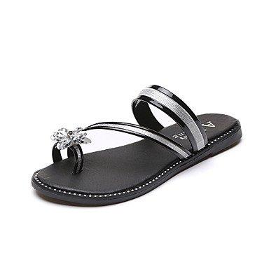 Donne'spantofole & flip-flops Primavera Estate Comfort PU Casual tacco piatto perla US7.5 / EU38 / UK5.5 / CN38