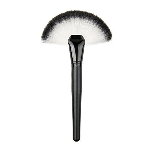 Vi.yo 1 Pcs Professionnel En forme d'éventail Ensemble de Brosses Makeup Premium Cosmetics Foundation Blush Kit de Brosse à Poudre(Noir)