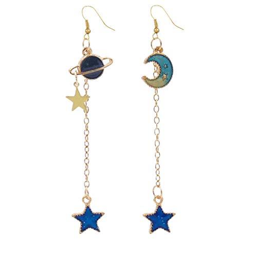 Laileya Las Mujeres Estrella Luna Planeta oído aleación