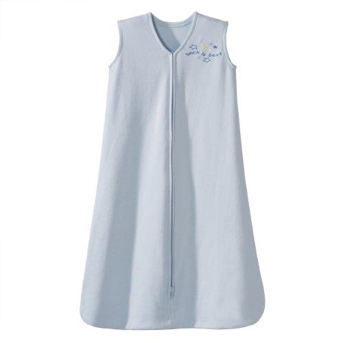 HALO SleepSack 100% Cotton Wearable Blanket, Baby Blue, X-Large