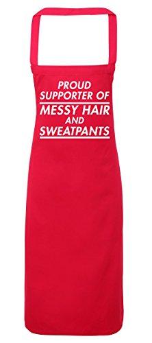 hippowarehouse stolze Supporter der Messy Haar und Sweatpants Schürze Küche Kochen Malerei DIY Einheitsgröße Erwachsene, fuchsia pink, Einheitsgröße (Erwachsene Sweatpant)