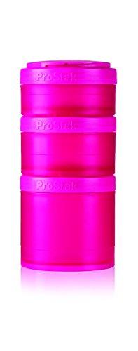BlenderBottle ProStak Expansion Pak - pink 3 Pak Container (250ml, 150ml und 100ml) inklusive 1. Pillenfach
