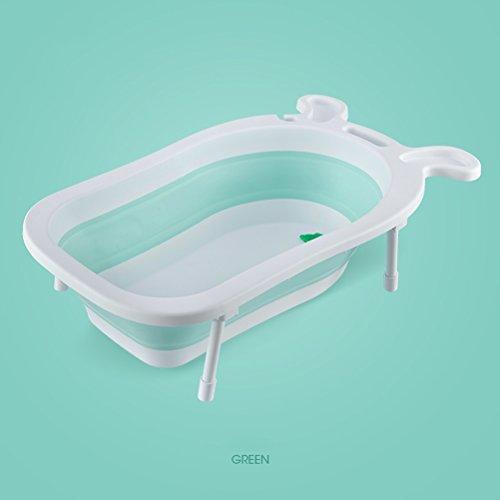 vbimlxft- Baby Badewanne Rutschfeste Matte Portable Faltbare Badewanne Komfort Faltbare Duschwanne Deluxe Neugeborenen Kleinkind-Wanne Badewanne (Farbe : D)