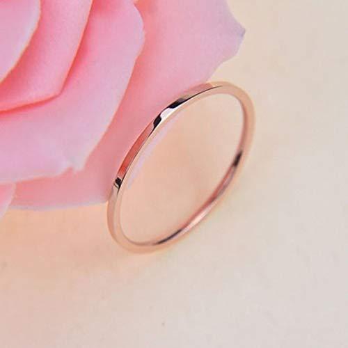 Leobtain Paare Titan Stahl Ring einfache Liebhaber Ring für Frauen Mädchen Party Hochzeit zum Valentinstag Geburtstag Geschenke